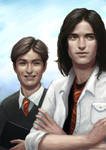 Young Remus and Sirius