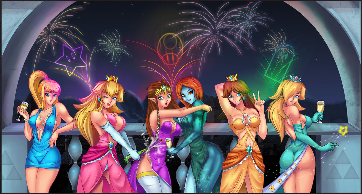 Nintendo girls- Happy New Year by Felox08