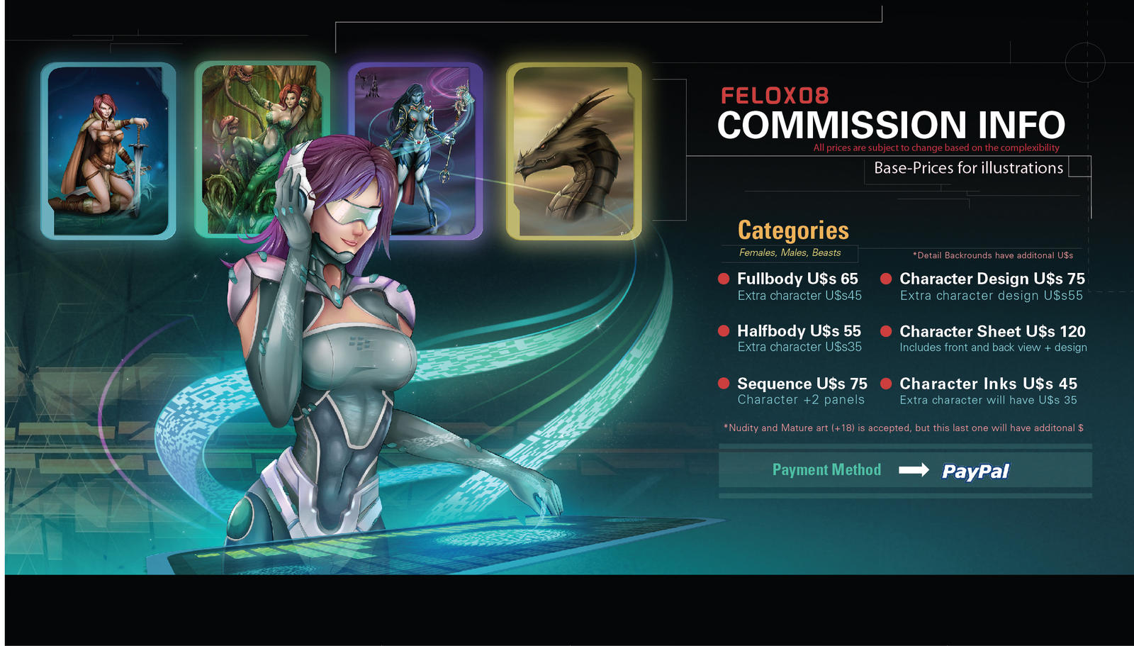Felox08 Commissions updated by Felox08