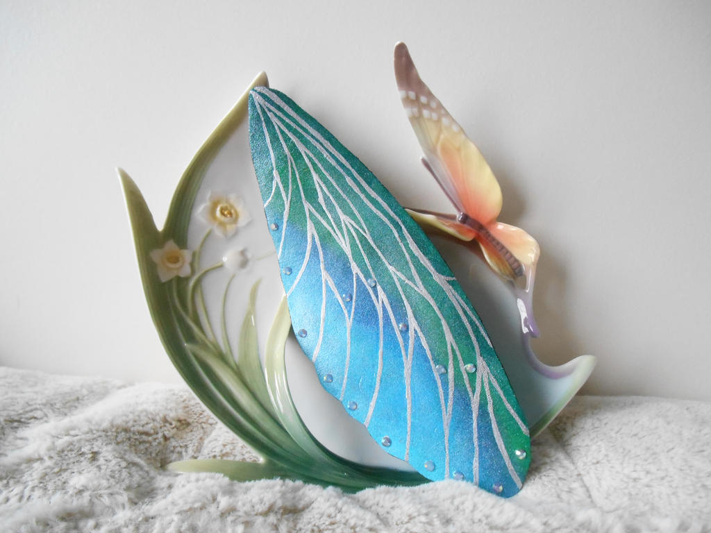 Upon Glittering Wings Fairy Leather Bookmark by LinaSei