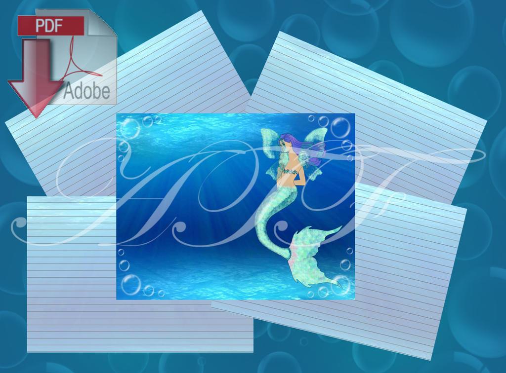 Mermaid Journal instant digital Download by LinaSei