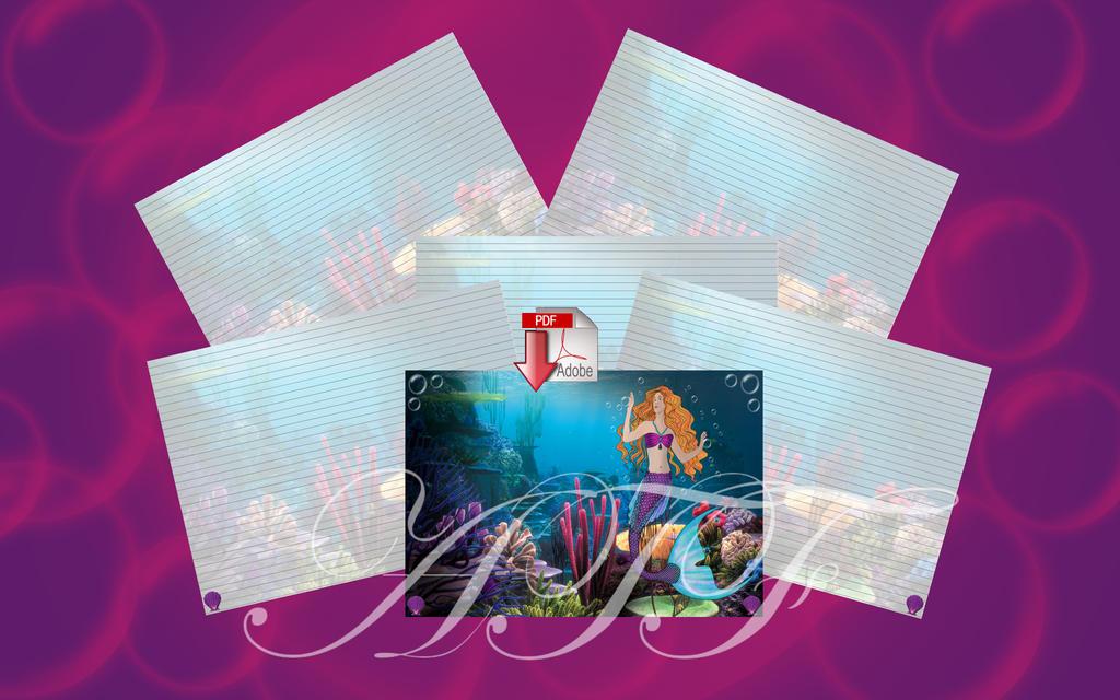 Mermaid Journal II instant digital Download by LinaSei
