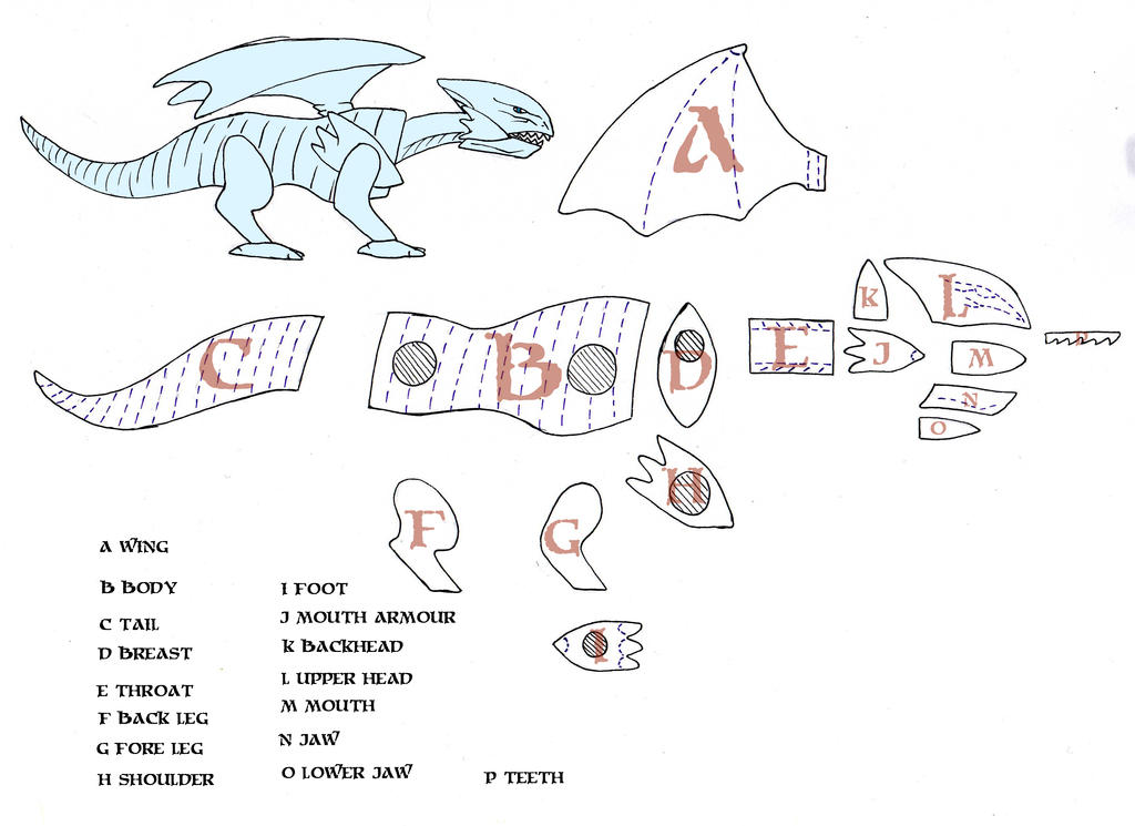 Nice Stuffed Dragon Sewing Pattern Free Ensign - Easy Scarf Knitting ...
