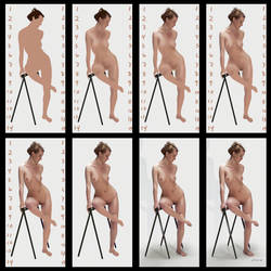 Sitting Nude - Steps by ClaudiaSutton