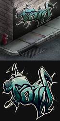 Graffiti Attempt by HealTheIll