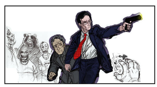 Stephen Colbert:Zombie Slayer by Rashomonchb