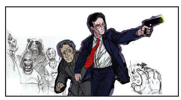 Stephen Colbert:Zombie Slayer by Rashomonchb