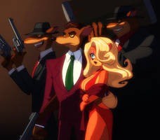 Potoroos and lady bandicoot