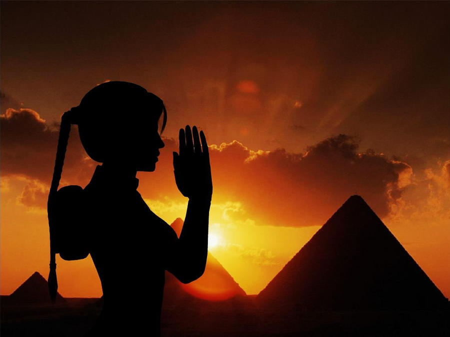 Lara Croft - Egypt Sunset by TeenRaider