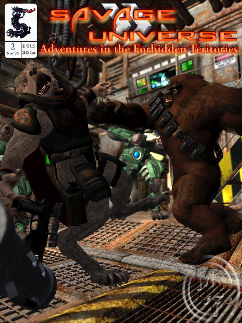 Bigfoot vs Werewolf...in space!!! by kageryu