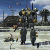 Armored VF-35J WildHog by kageryu