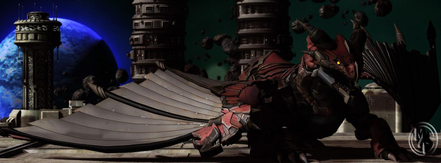 Orbital Dragon Strike by kageryu