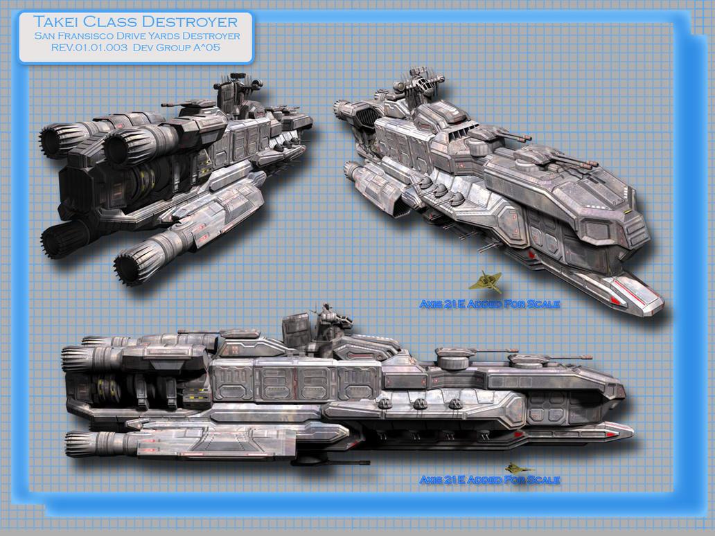 Takei Class Destroyer by kageryu