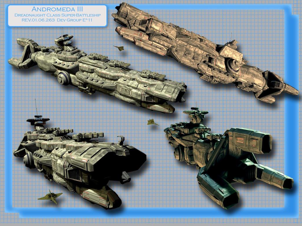 Andromeda III Flag Battleship by kageryu