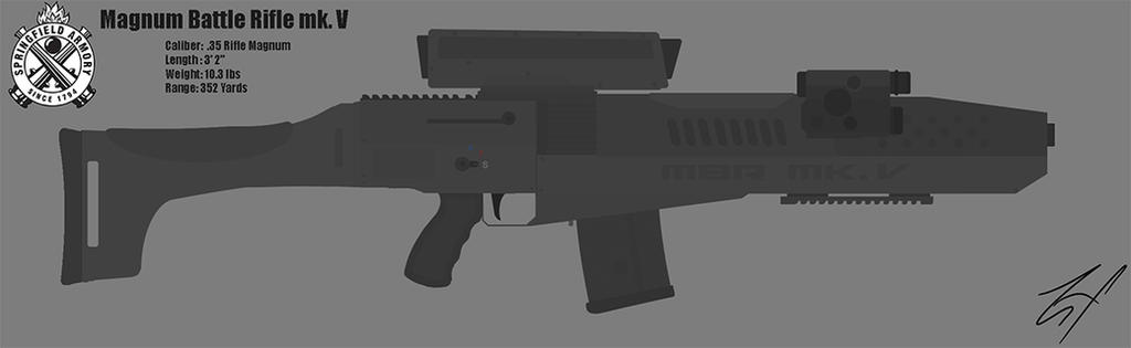 Springfield Magnum Battle Rifle (MBR) mk. V by ZehFox