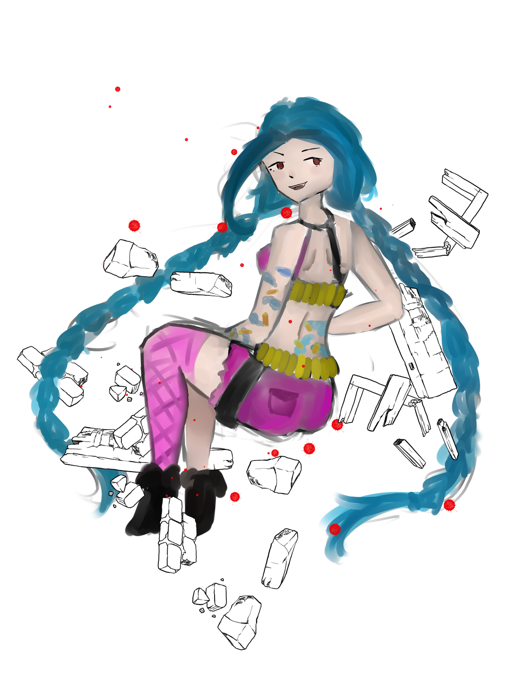 jinx the loose cannon by echo5017 on deviantart