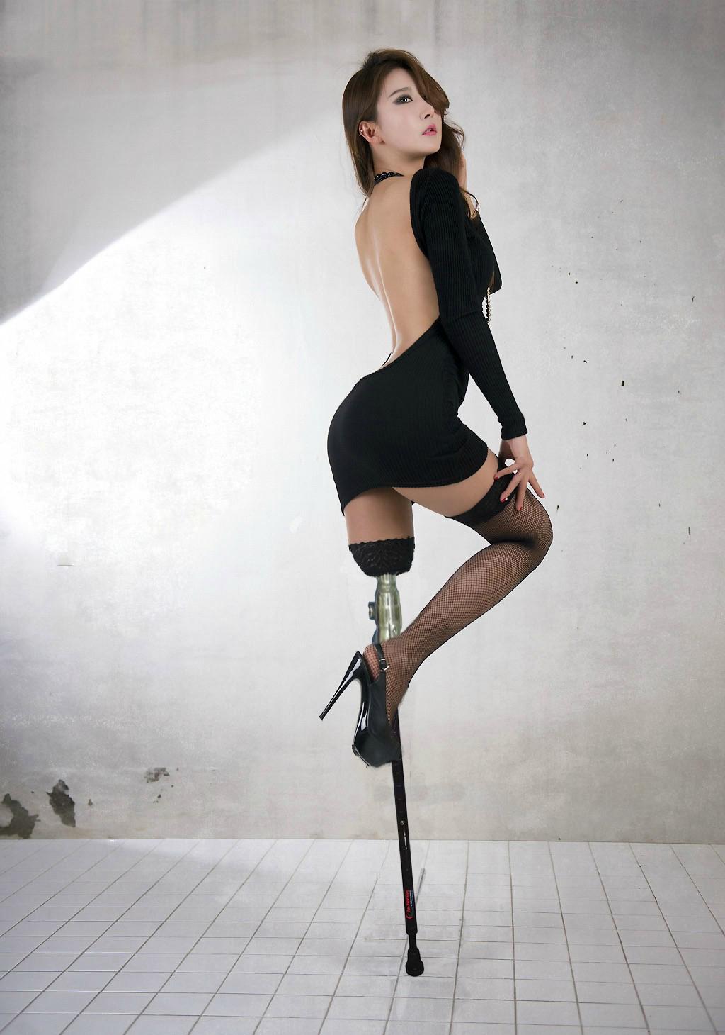 Sexy amputee girl