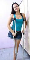Sexy RAK Girl On chrutches