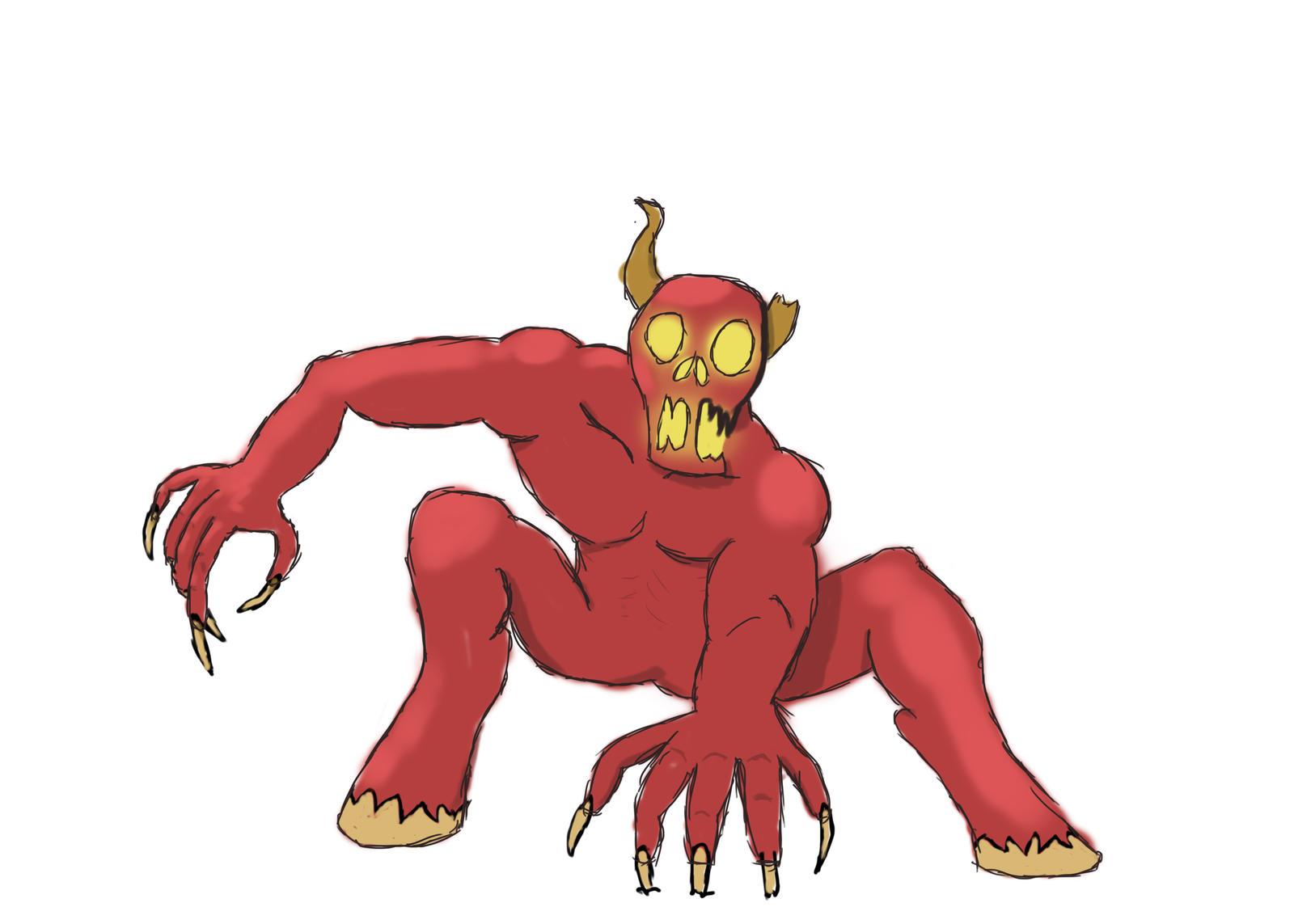 30 Minute Challenge Tauros Demon by DeVangiel