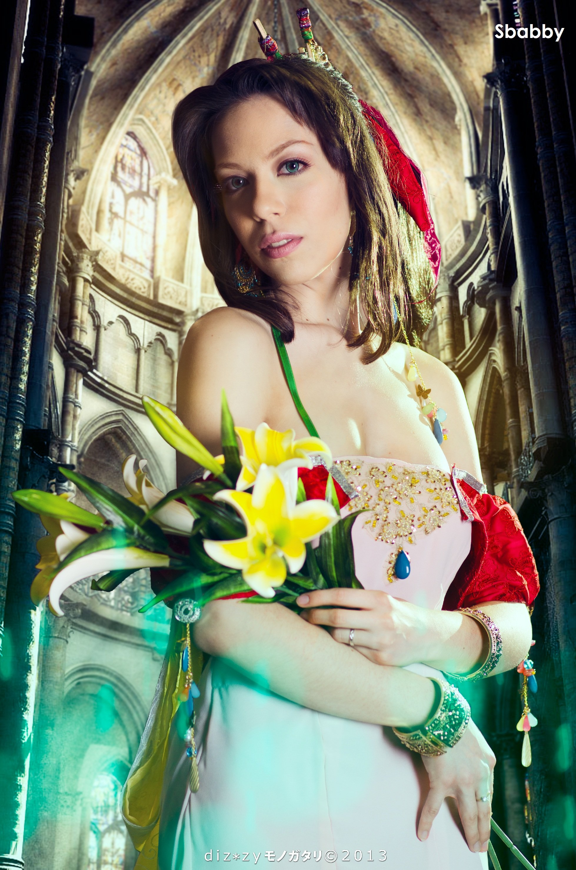 Aerith Cosplay - Amano Design - Materia Glow by Sbabby