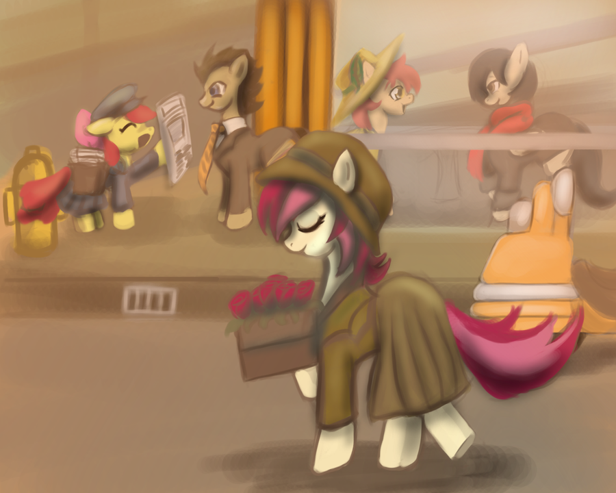 DieselPunkPonies- Rose by gunslingerpen