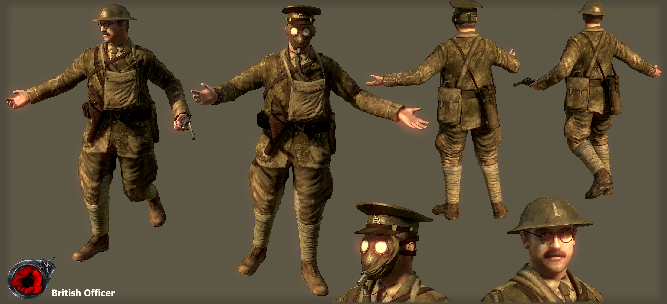 British Officer ww1 by Volcol