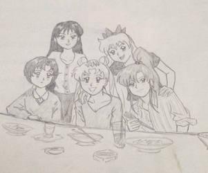 Sailor Moon Sketch by Marle1010