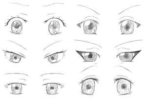 Manga Eyes by Jeriv
