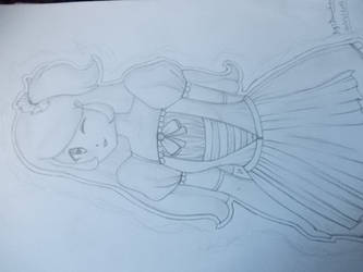 Lovely anime girl by Doundou