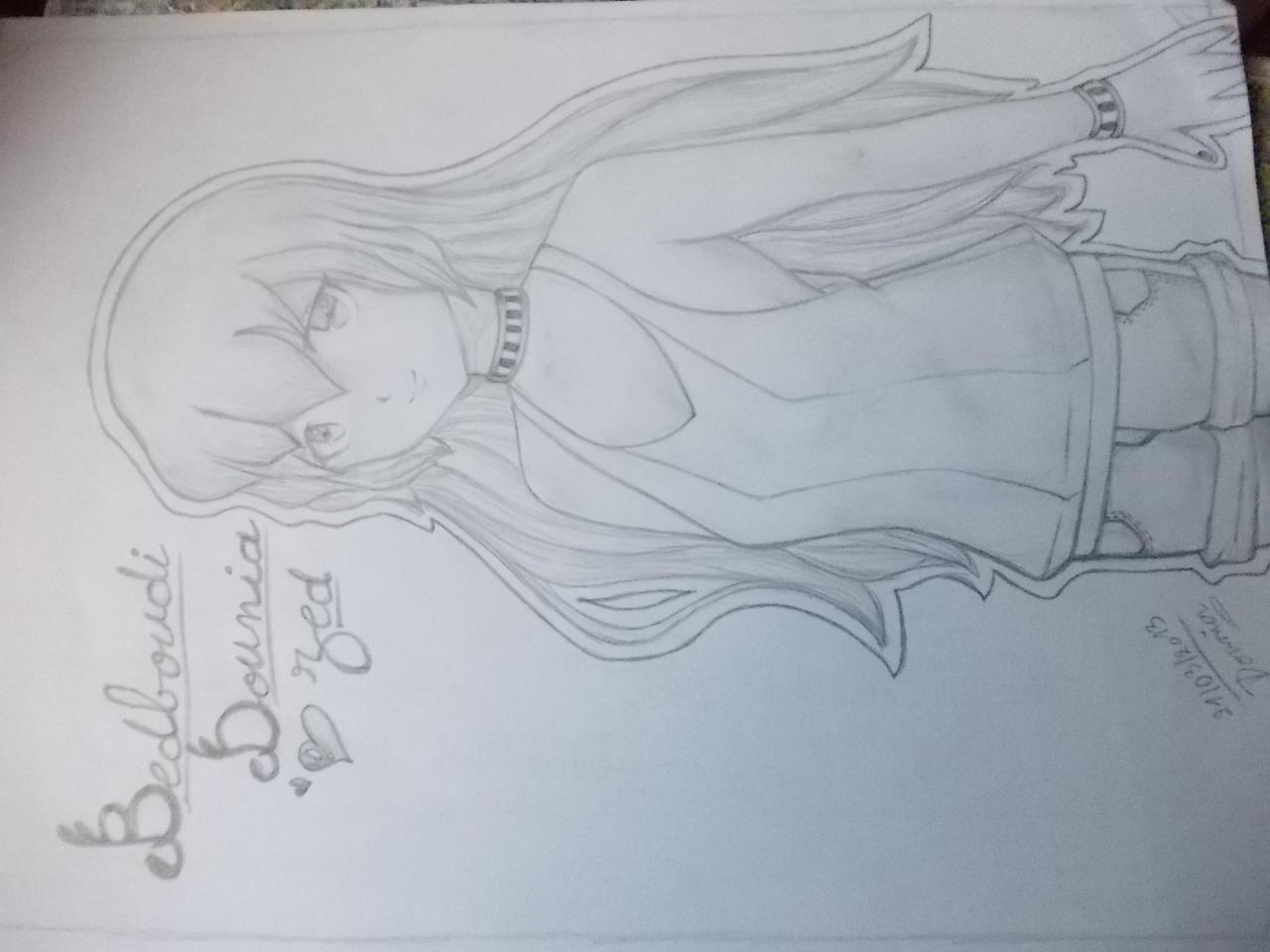 An anime girl ! by Doundou