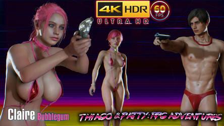RE2 REMAKE: Bubblegum Claire MODs