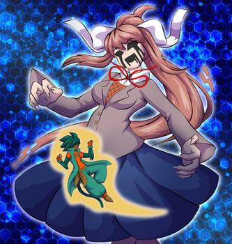 Just me and Monika by OutlawMoruko
