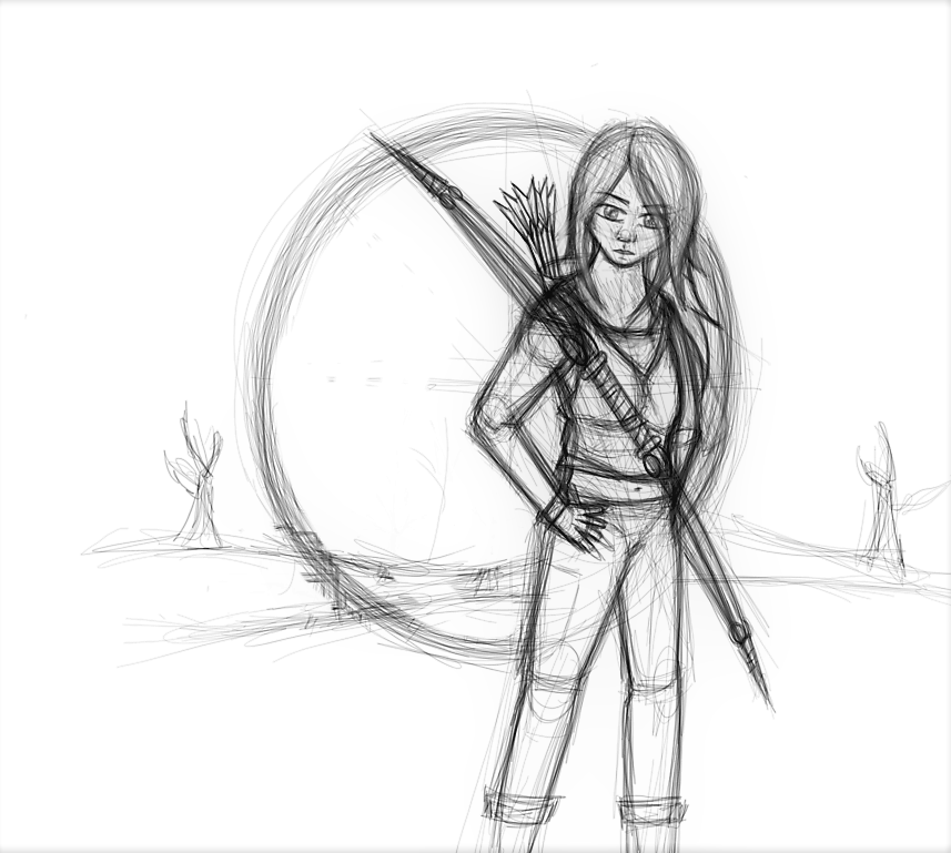 Desert Hunter sketch by AutumnLion