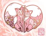 Foxy Valentine Enamel Pin Set