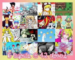 16 layouts