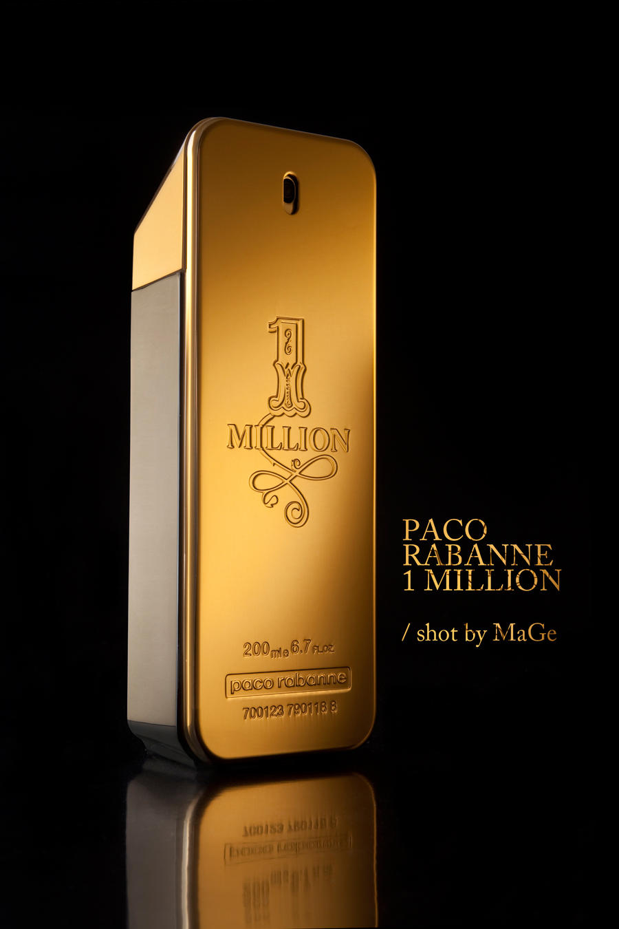 Paco rabanne 1m packshot by aucoeurdemage on deviantart for Paco by paco rabanne