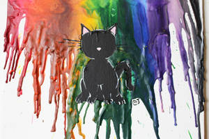 Crayon Cat by MillyT