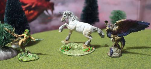 Dryad Unicorn Peryton by MillyT