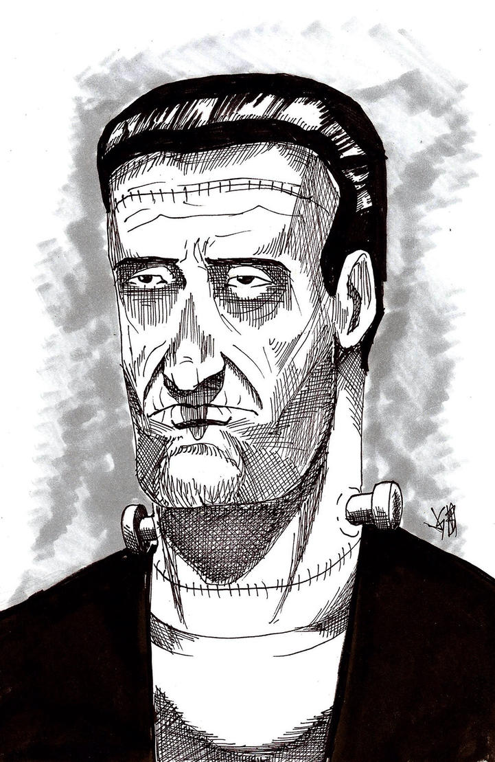 Inktober Day Thirty-One: Frankenstein's Monster by monkeygeek
