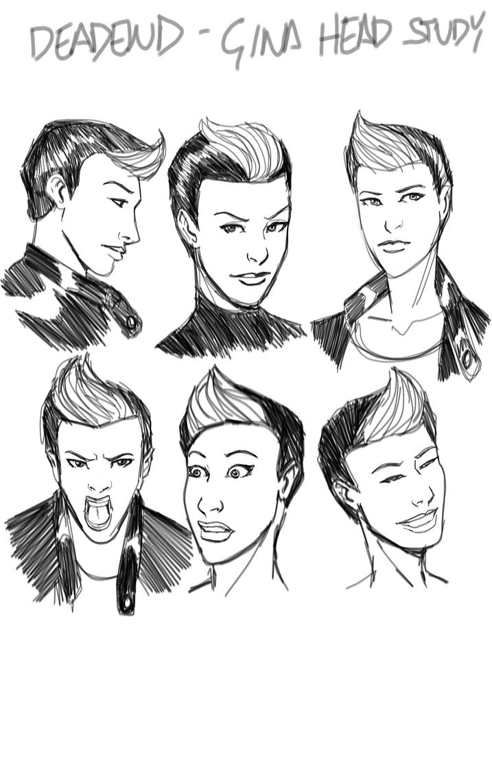 Gina Warm Up Sketches by monkeygeek