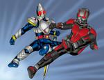 Kamen Rider Meets Ant-Man Colors
