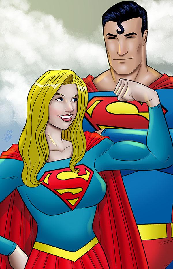 Supergirl/Superman by monkeygeek