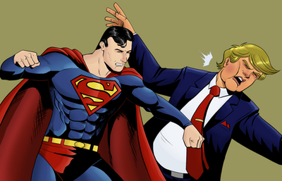 Superman v. Trump  by monkeygeek