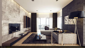 Modern Rustic Living Room 1