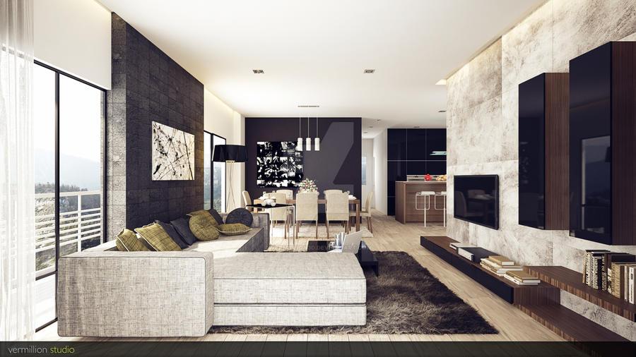 modern rustic living room 3vermillion3d on deviantart