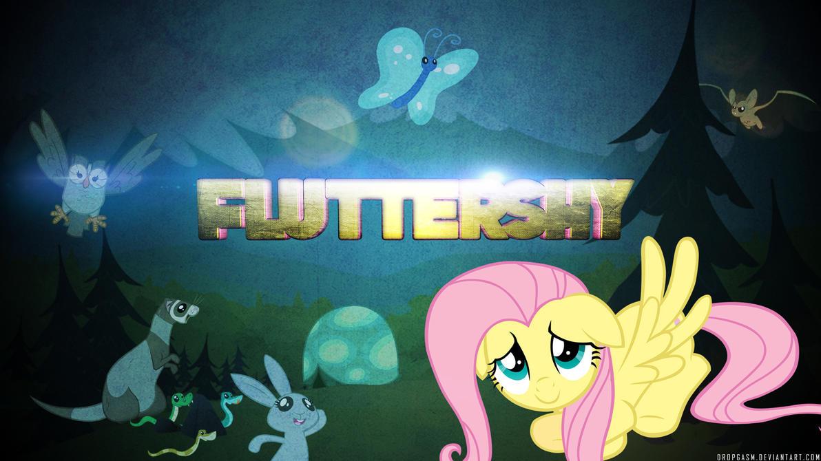 Fluttershy Wallpaper by Dropgasm