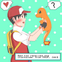 Red - First pokemon by YungMoneyChow