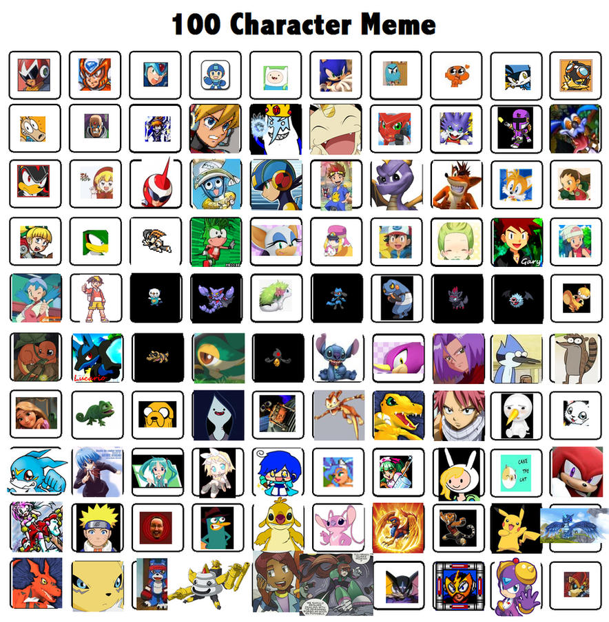 Cartoon Characters 2 100 Pics : Character meme by tanlisette on deviantart