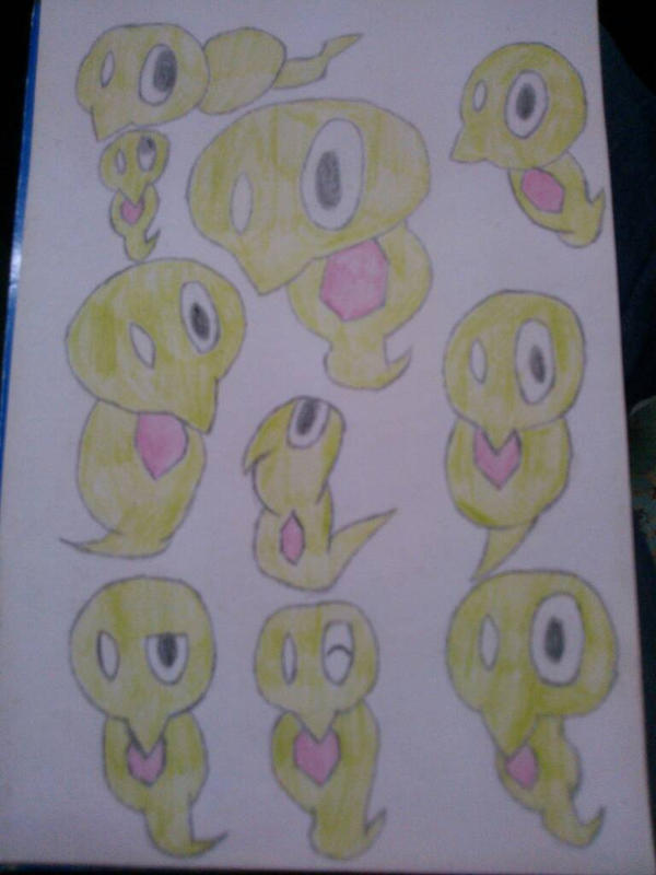 Zygarde Core (Squishy) Doodles by tanlisette