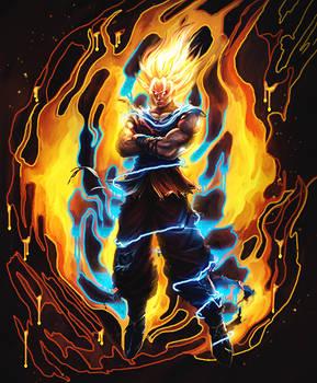 Son Goku SSJ2 - collab